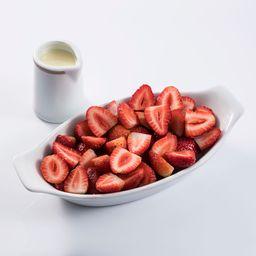 Copas de Fresas con Leche Condensada