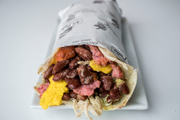 Taco de Hot Dog + Pepsi