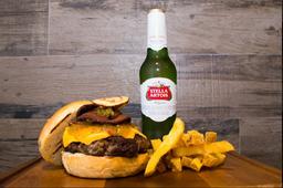 1 Hamburguesa + 1StellaArtois