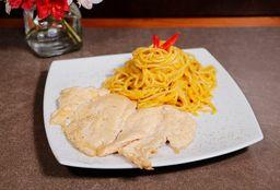 Filete de Pollo a la Plancha + Pasta