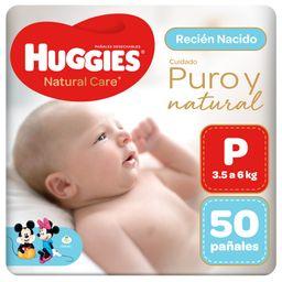Huggies Pañal Natural Care Talla P