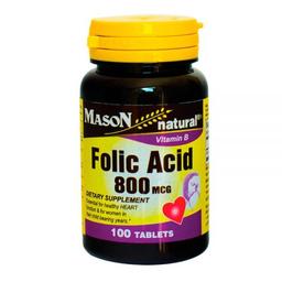 Mason Acido Fólico 800 mcg Fcox100 Tabletas