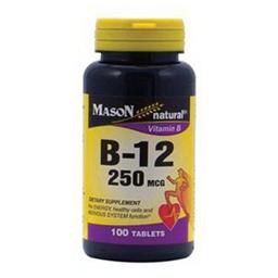 Mason Vitamina B12 250 mcg x 100 Tabletas