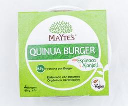 Hamburguesa Quinua, Espinaca y Ajonjolí x4 - Mayte's