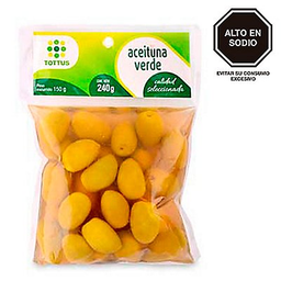 Aceituna Verde Con Pepa X 240