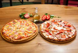 2 x 1 Pizza Familiar Hawaiana