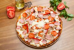 2 x 1 Pizza Familiar Carnes & Brasas