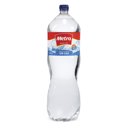 Agua Sin Gas Metro Botella 2.5 L