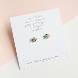 Aretes mini - Ojitos turcos multicolor