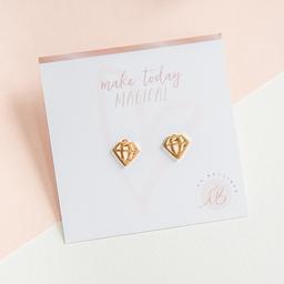 Aretes mini - Silueta diamante