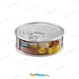 Alimento H�medo Nutram T22 Para Gato Pollo y Pavo 156 g