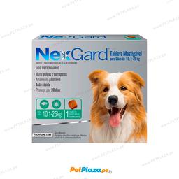 Antipulgas Nexgard Para Canes de 10.1 a 25 Kg  (1 tableta)