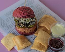 Portobellos Y Frejol Burger