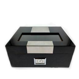 Caja Para Puros Grande c/ Detalles Metal