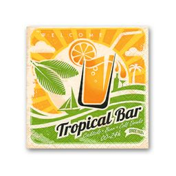 Servilletas Cocktail Tropical Naranja