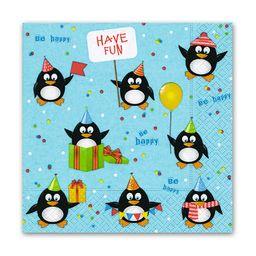 Servilletas Pinguinos Cumpleaños