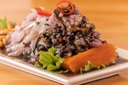 Ceviche de Filete de Pescado y Conchas