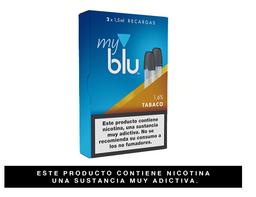Cartuchos Myblu™ Sabor Tabaco 2 Recargas, 1,6%