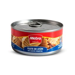 Filete de Atun en Aceite Vegetal Metro Lata