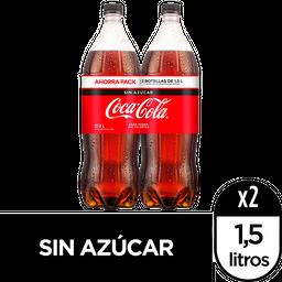 Gaseosa Coca-Cola Zero X 2