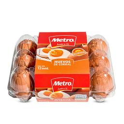Huevos De Corral Metro Bandeja 12 Unid