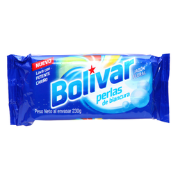 Jabón Bolívar Para Ropa Floral Perlas de Blancura 220 g