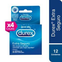 04 Durex Preservat Extra Seguro Caja X3 Und