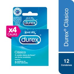 04 Durex Preservat Clasico Caja X 3 Und