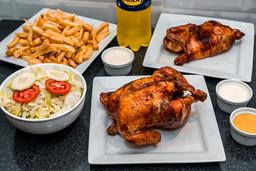01 Pollo Brasa + Medio Pollo