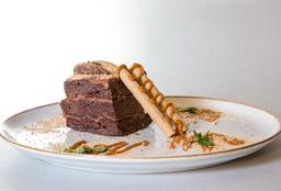 Torta de Triple Brownie de Chocolate