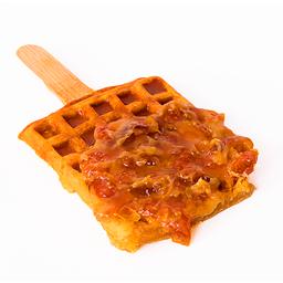Waffle de Vainilla con Queso Crema