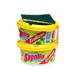 Lavavajilla Sapolio  en Crema Limón 360 g x 2 U