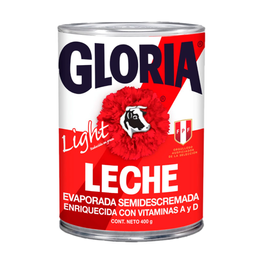 Leche Evaporada Gloria Light Semidescremada 400 g