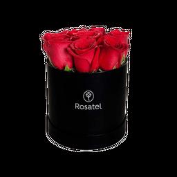 Caja Sombrerera (M) 9 Rosas Rojas