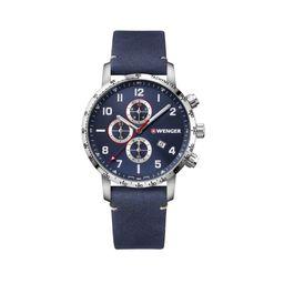 Reloj Attitude Chrono 44, Blue Dial,Leather