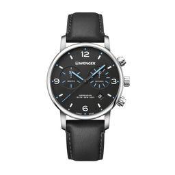 Reloj Urban Metropolitan Chrono 44,Black Dial, Black Leather