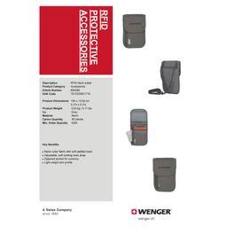 Wenger Neck Wallet With Rfid Pocket, Grey