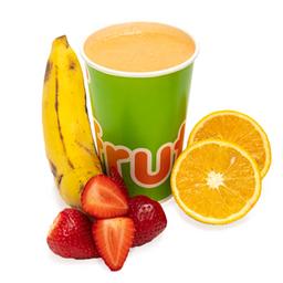 Jugo de Fresa, Plátano y Naranja