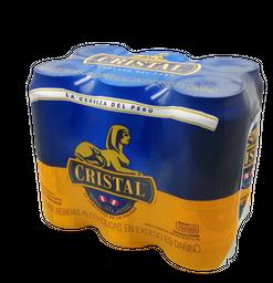 Cerveza Cristal 473 mL x 6
