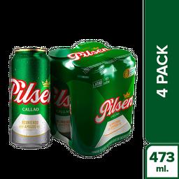 Cerveza Pilsen 473 mL x 4