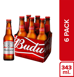 Cerveza Budweiser 343 mL x 6