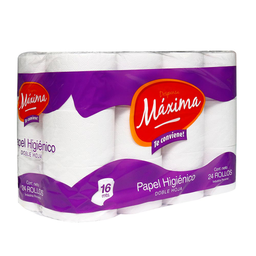 Papel Higienico Doble Hoja Maxima Paquete 24 Unidades