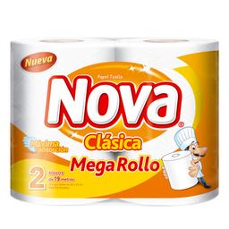 Papel Toalla Nova Clásica Megarollo  2 U