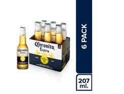 Corona Six Pack Botella 210 Ml