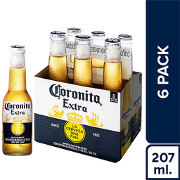 Cerveza Coronita Pack 210 mL 6 U