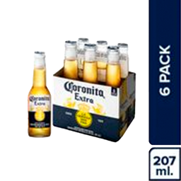 Cerveza Coronita Pack 210 mL 6 U