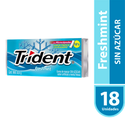 Chicle Trident Freshmint 30.6 g