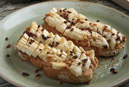 Tostadas con Mantequilla de Maní y Plátano