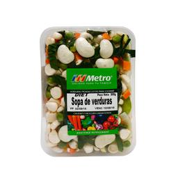Sopa De Verduras Diet Metro Bandeja 300 G