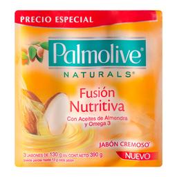 Jabón de Tocador Palmolive  Naturals Fusión Nutritiva 130 g x 3